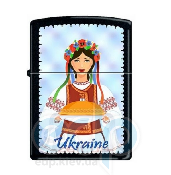 Зажигалка Zippo - Ukraine Woman Folk Dress (218UW)